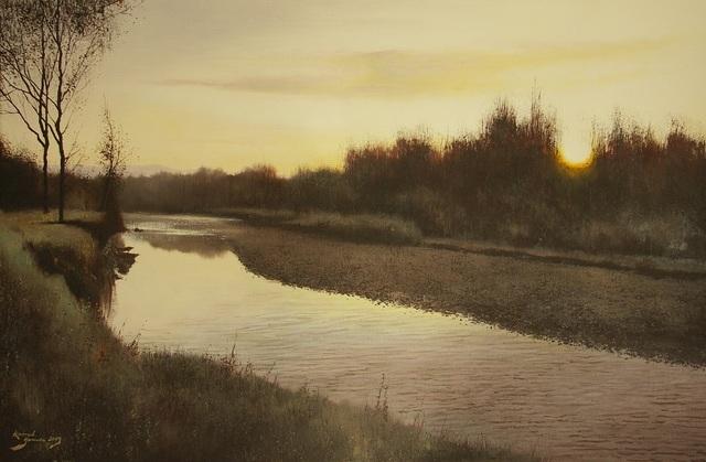 Wschód słońca nad rzeką, 2019