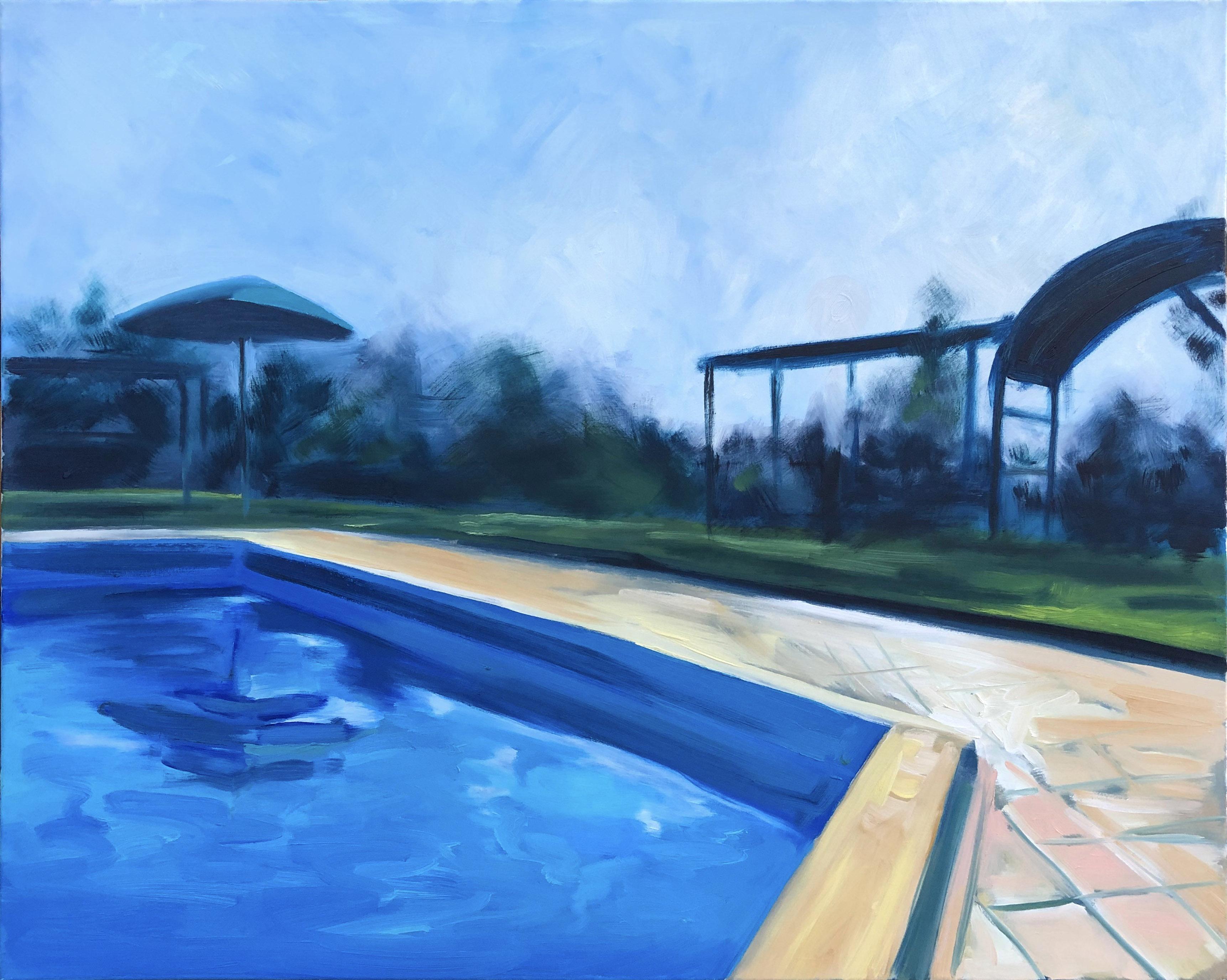 La piscina a Casa al Bosco, 2015 r.