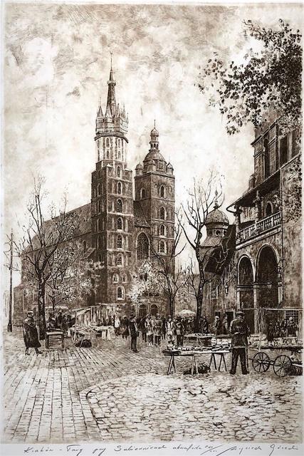 Kraków - targ przy sukiennicach