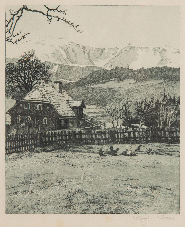 Karkonosze, Zagroda u podnóża góry