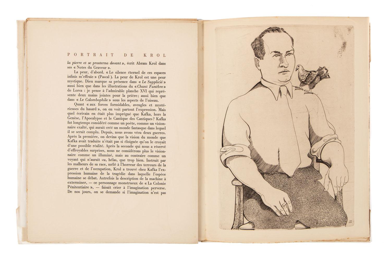 """Książka """"Portrait de Abram Krol"""" z 13 rycinami artysty, 1957"""