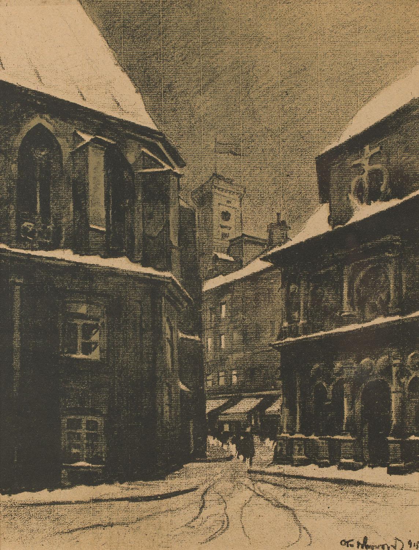 Widok na Ratusz, z teki Lwów, 1915