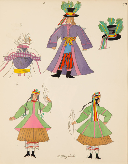 "Plansza 30 z teki ""Polish peasants costumes"", 1939"