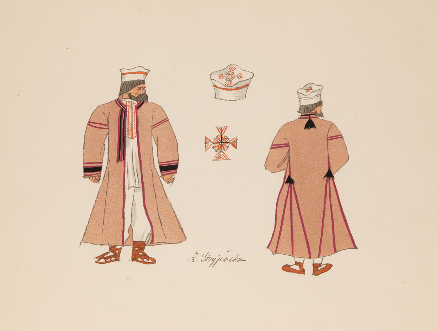 "Plansza 36 z teki ""Polish Peasants Costumes"", 1939"
