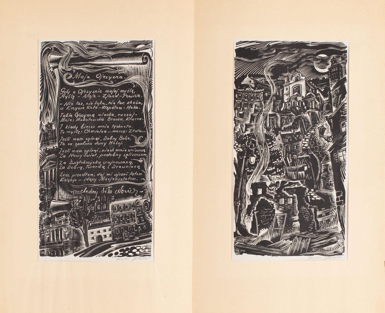 Moja ojczyzna - para grafik, 1943 , 1943