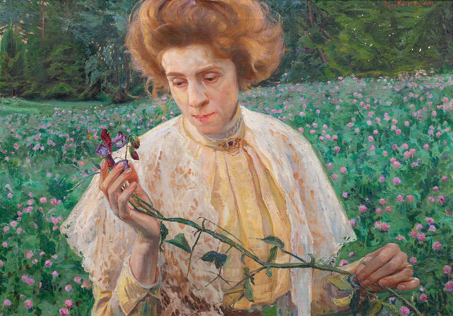 Portret pani z wyką, przed 1910