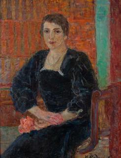 """""""Portret kobiety w czarnej sukni"""", 1934-35"""