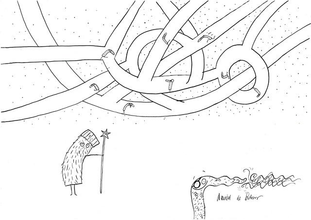 "Ilustracja do książki Justyny Bednarek ""Banda Czarnej Frotté"", 2019"