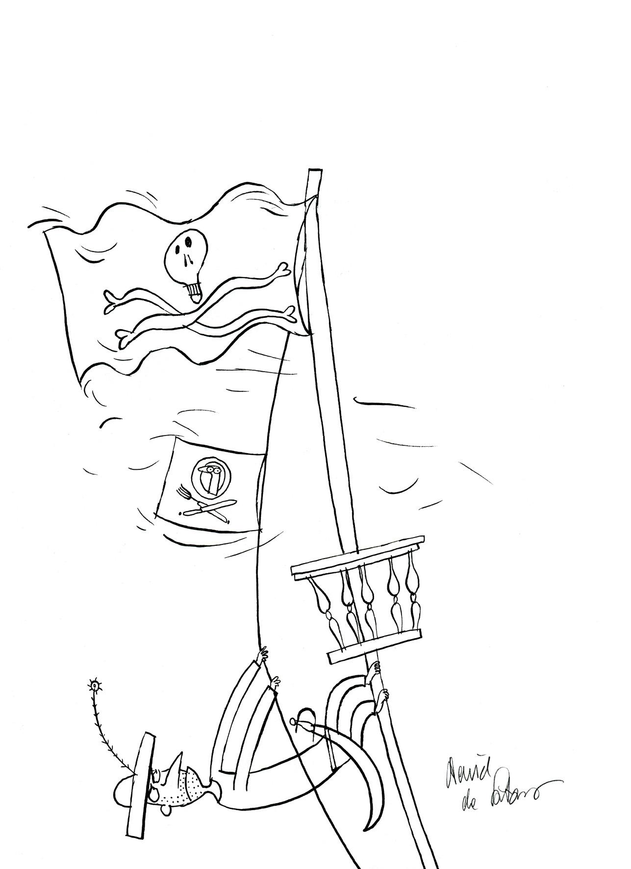 "Ilustracja do książki Justyny Bednarek ""Banda Czarnej Frotté"", 2020"