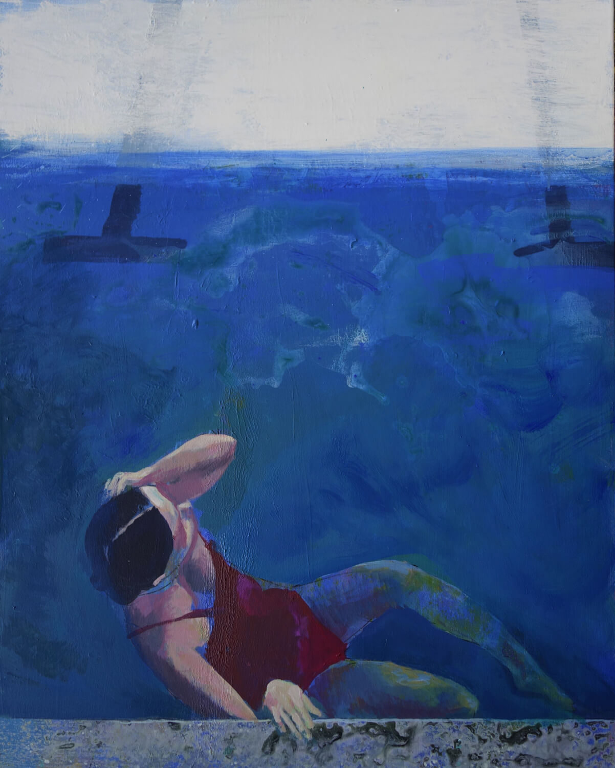 Swimmer in red, 2018