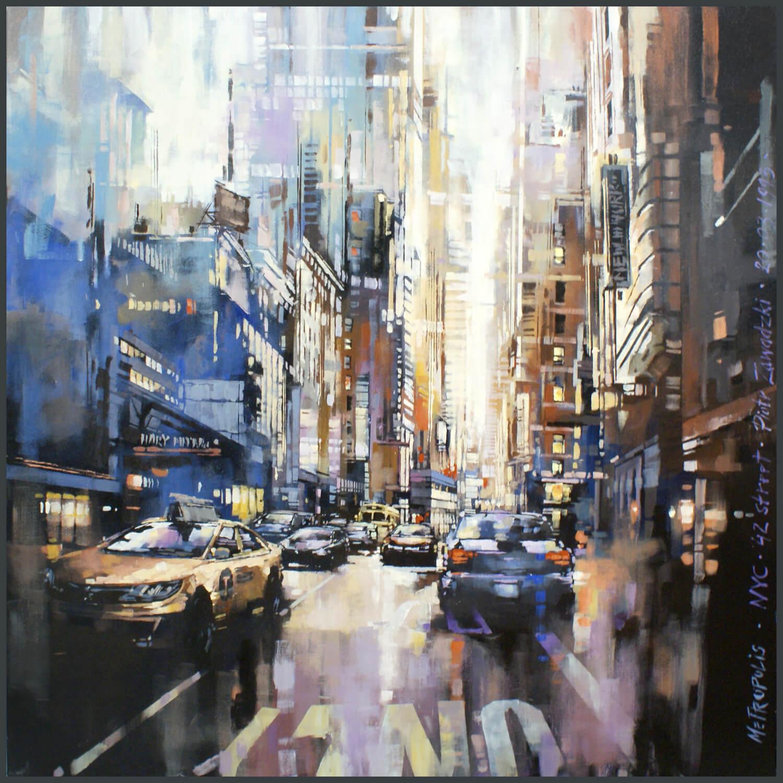 Metropolis. NYC 42 Street, 2020