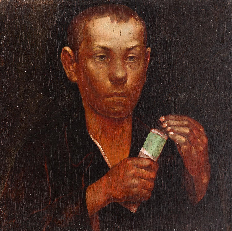 Chłopiec podający farby, 1925-1928