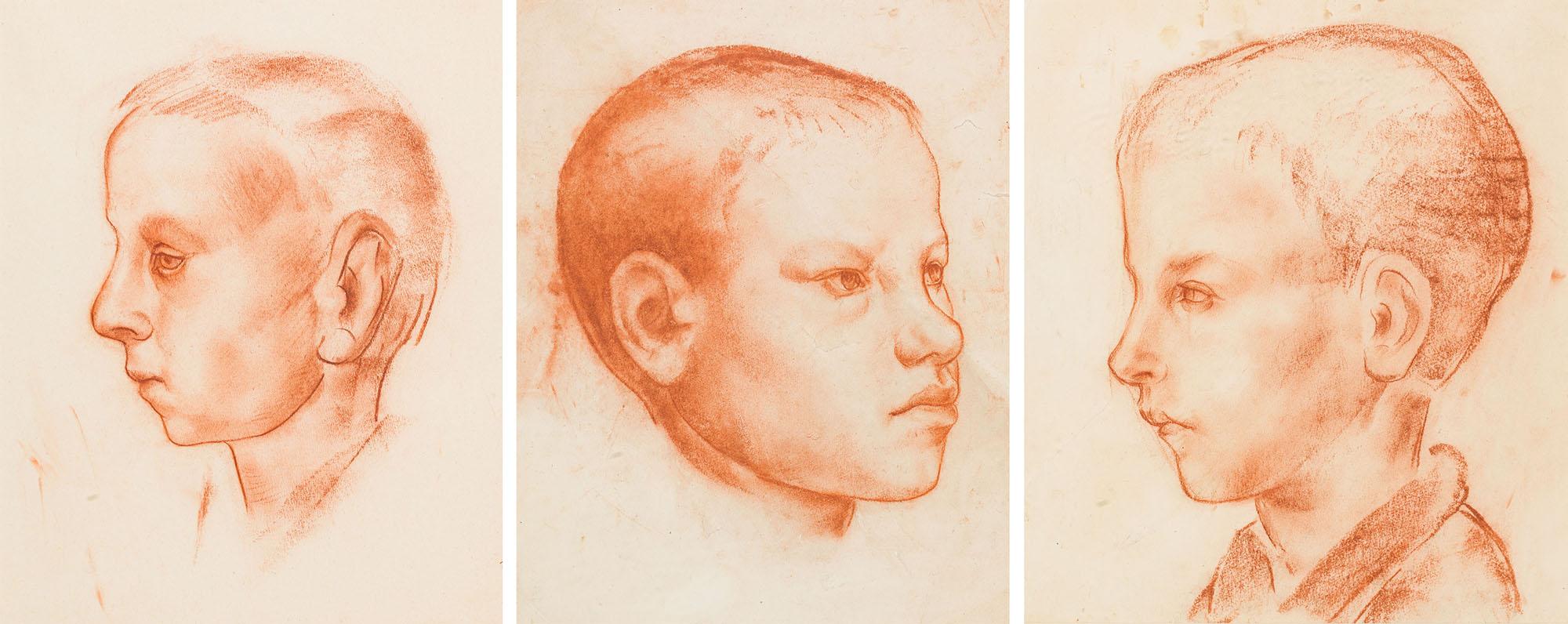 Główka chłopca w lewym profilu, Główka chłopca, Główka chłopca w profilu / Tryptyk, około  1926
