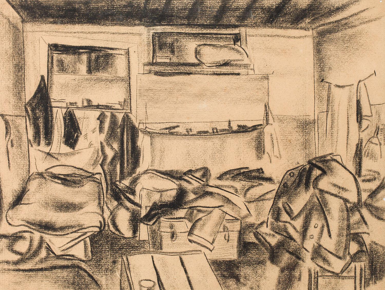 Wnętrze pokoju, około  1925