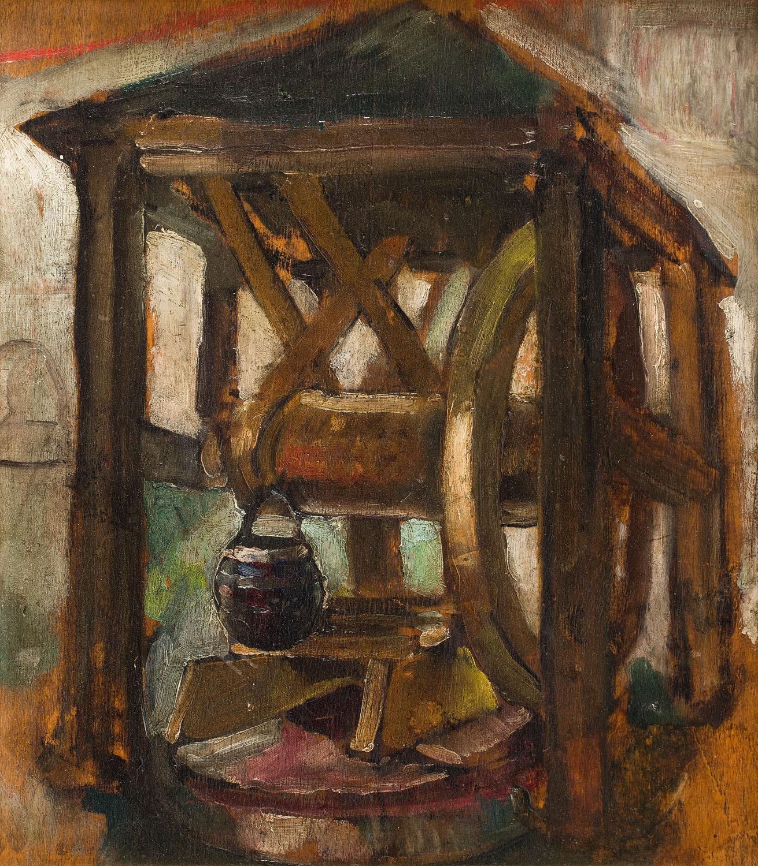 Studnia w Kazimierzu (Recto) / Portret kobiety (Verso), około 1925