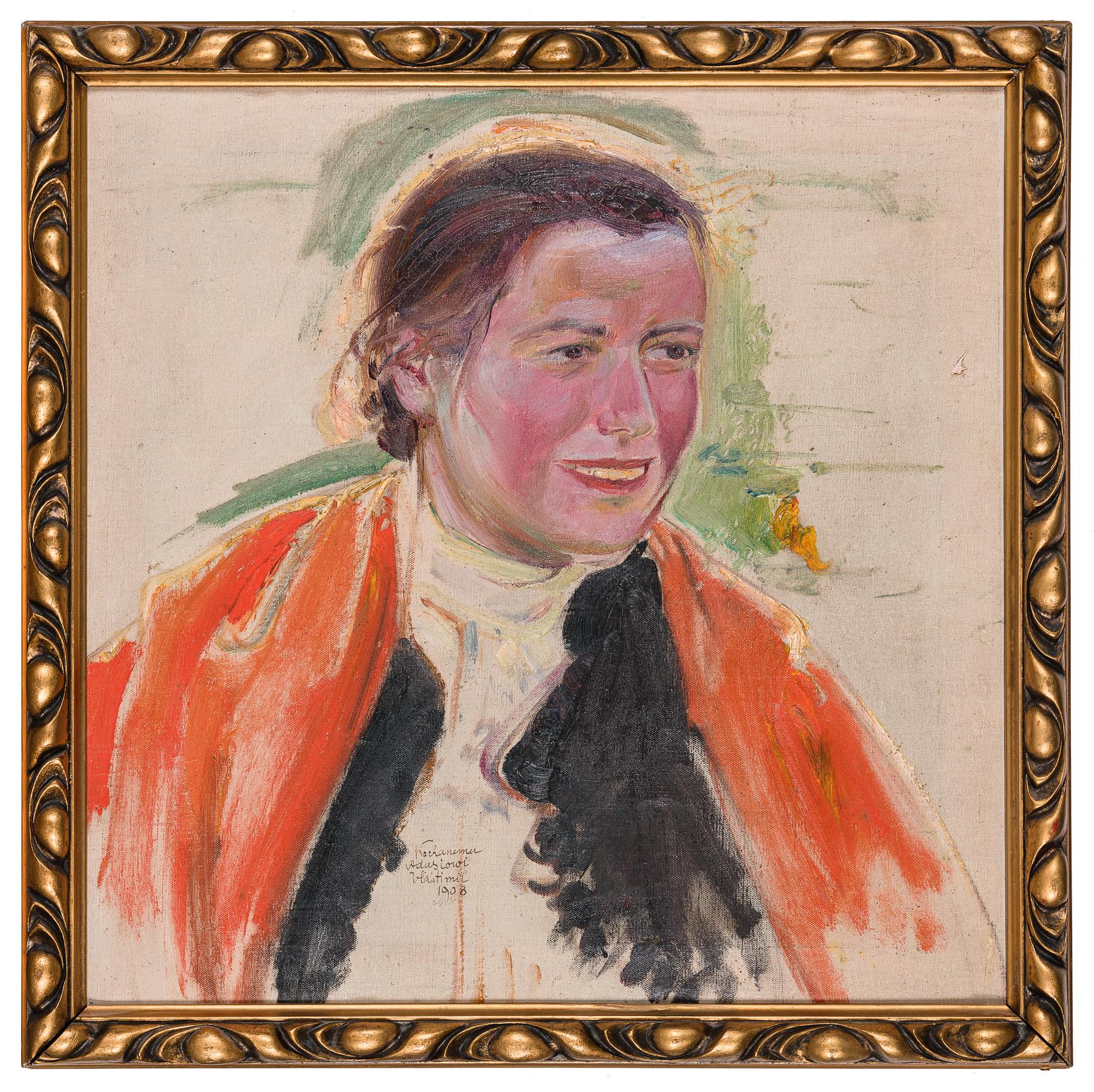 Portret kobiety w góralskiej chuście, 1908