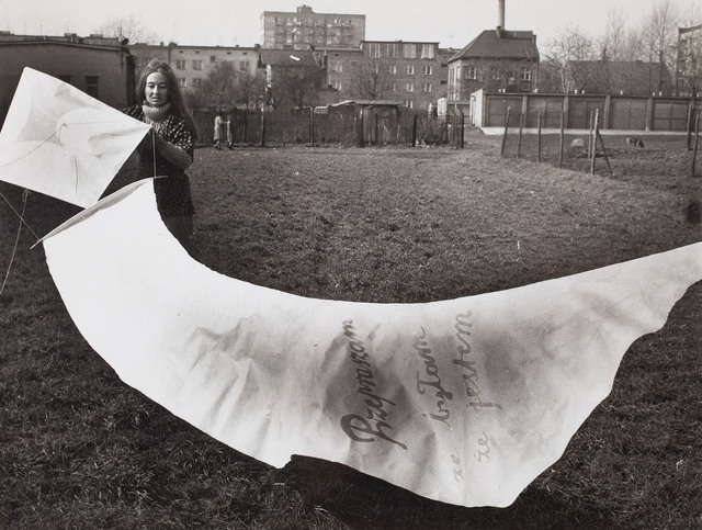 """List-latawiec"" - performance, 1976"