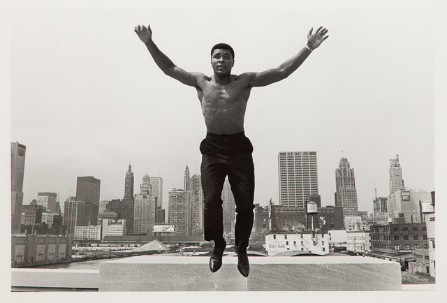 Muhammad Ali, jumping from a bridge over the Chicago River, 1966/2005