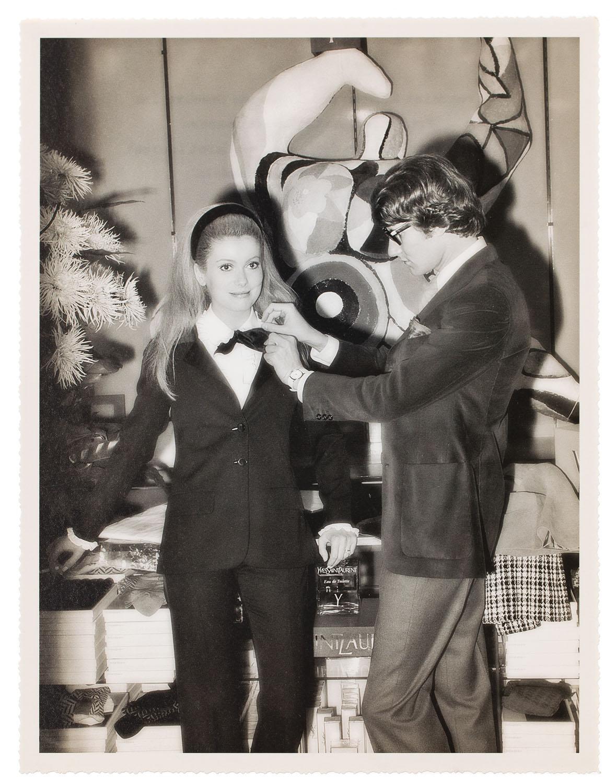 Yves Saint Laurent i Catherine Deneuve, 1966