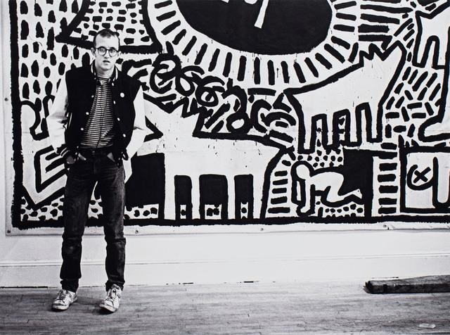 Keith Haring w swojej pracowni, 1982