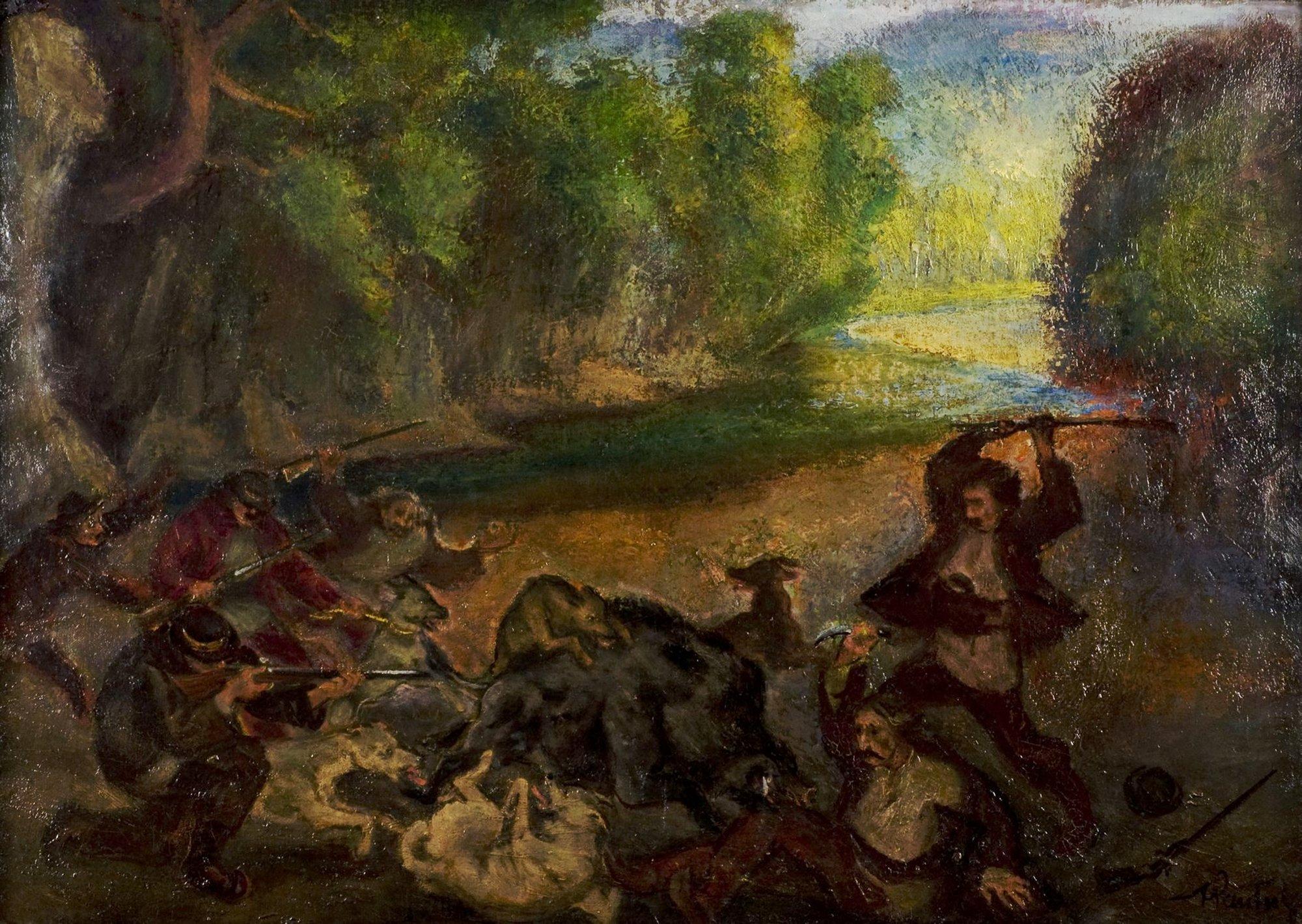 Polowanie na dzika, 1907