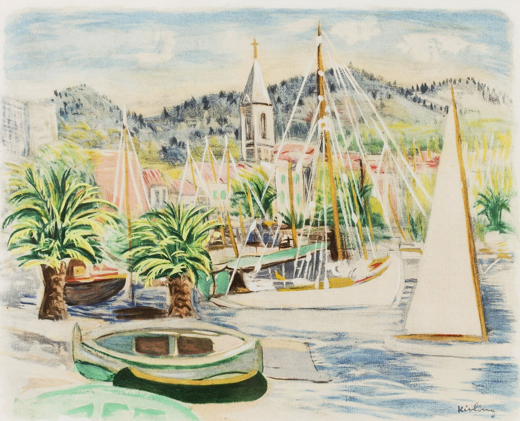 Port (Ilustracja do: Jean Giono, Provence, Paris), 1954
