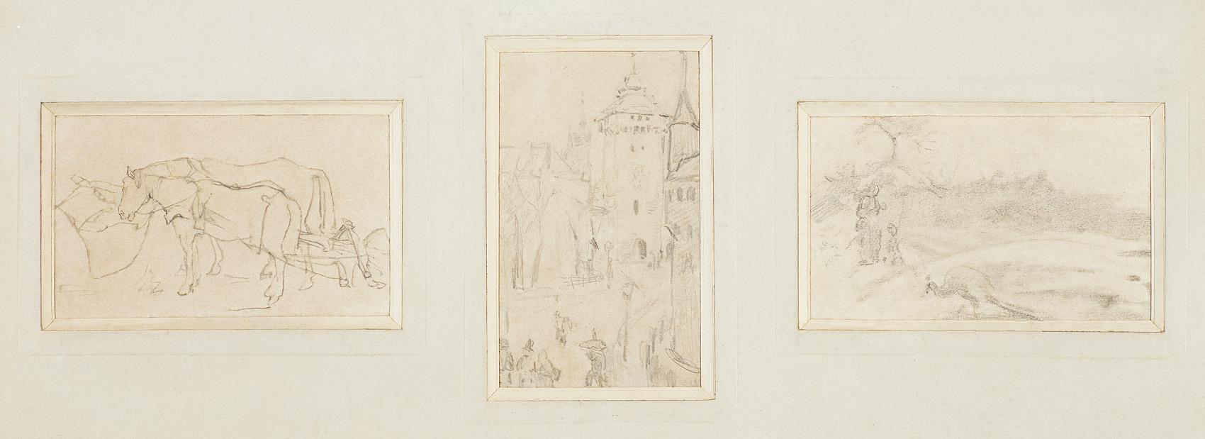 ZBIÓR TRZECH WSPÓŁOPRAWNYCH SZKICÓW, OK. 1872-79