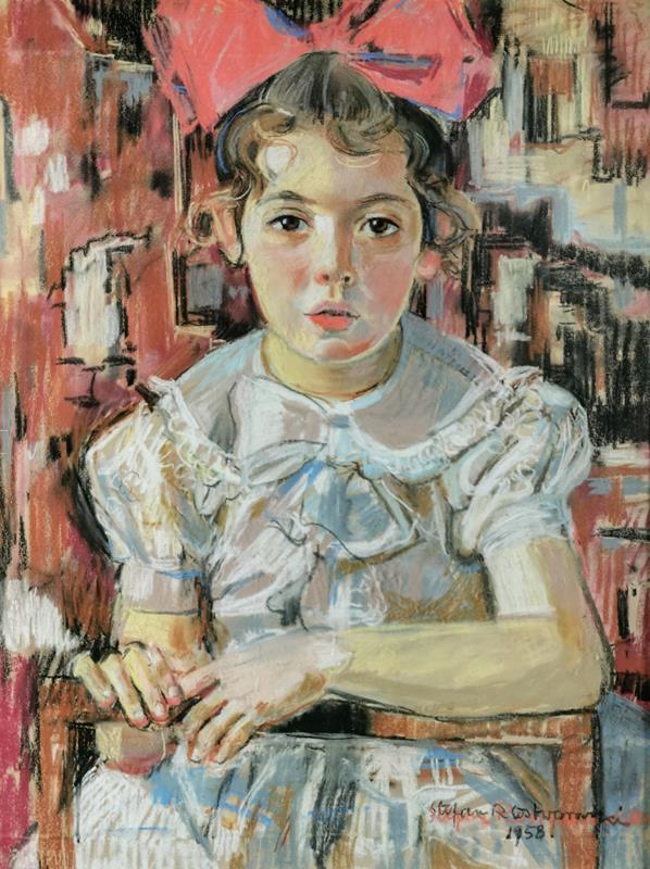 Mała dziewczynka z wielką kokardą, 1958