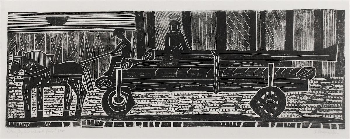 Zwożenie pni, 1969