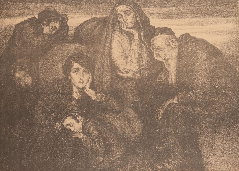 """Bezdomni z teki """"Pożegnanie z Golusem"""", 1910"""