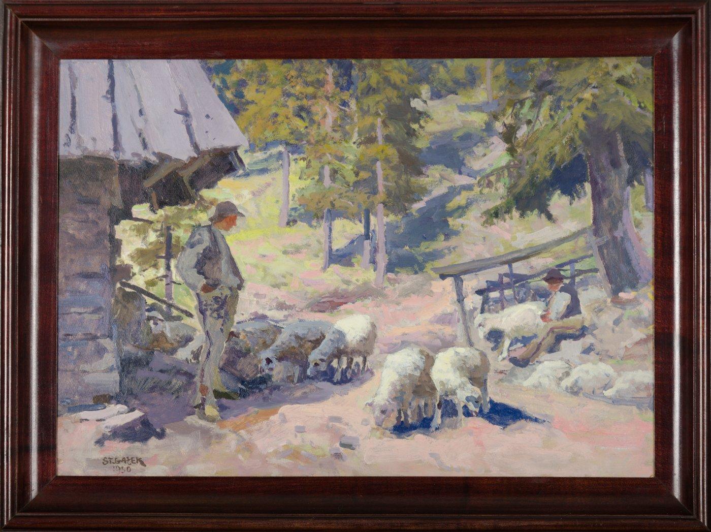Polana Pisana w Dolinie Kościeliskiej, 1950