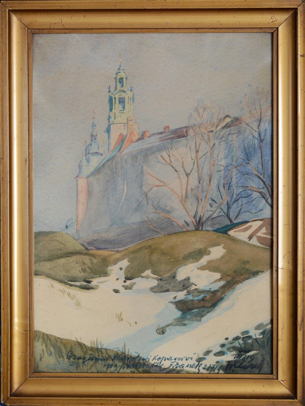 Wawel zimą