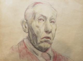 Autoportret z prawego en trois quatre
