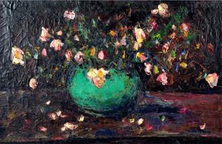 Kwiaty w zielonym wazonie, 1924