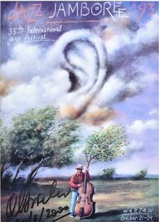 Plakat Jazz JAMBOREE '93 z autografem Rafała Olbińskiego