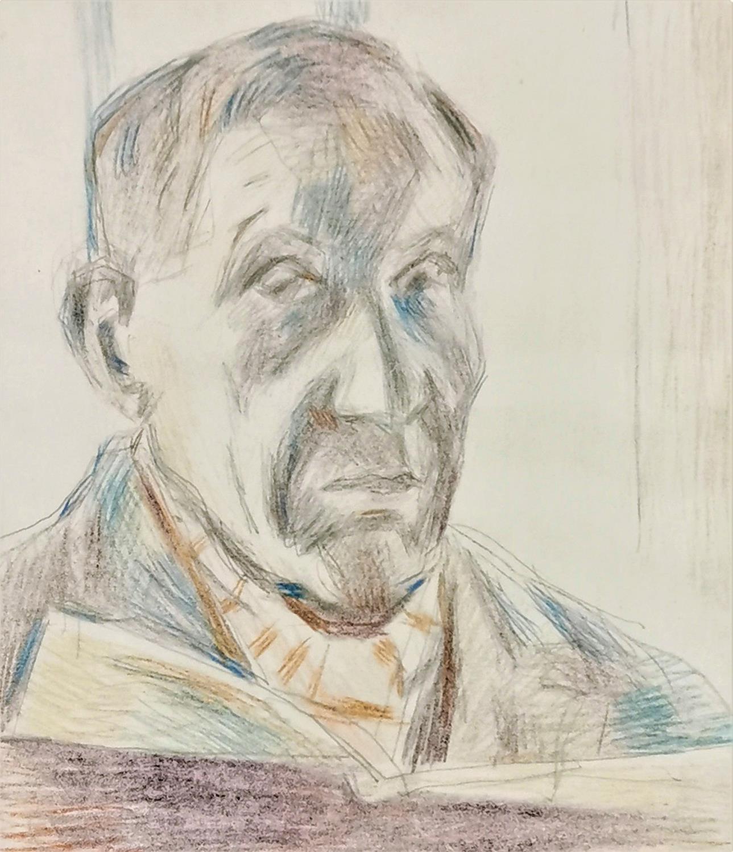 Autoportret z książką
