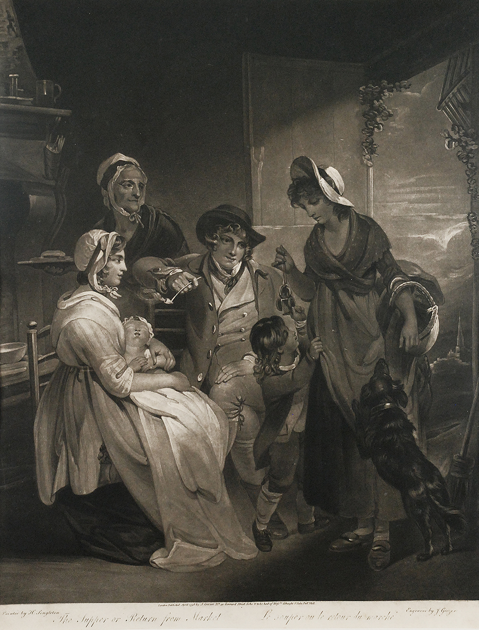 The Supper Or Return From Market, 1798