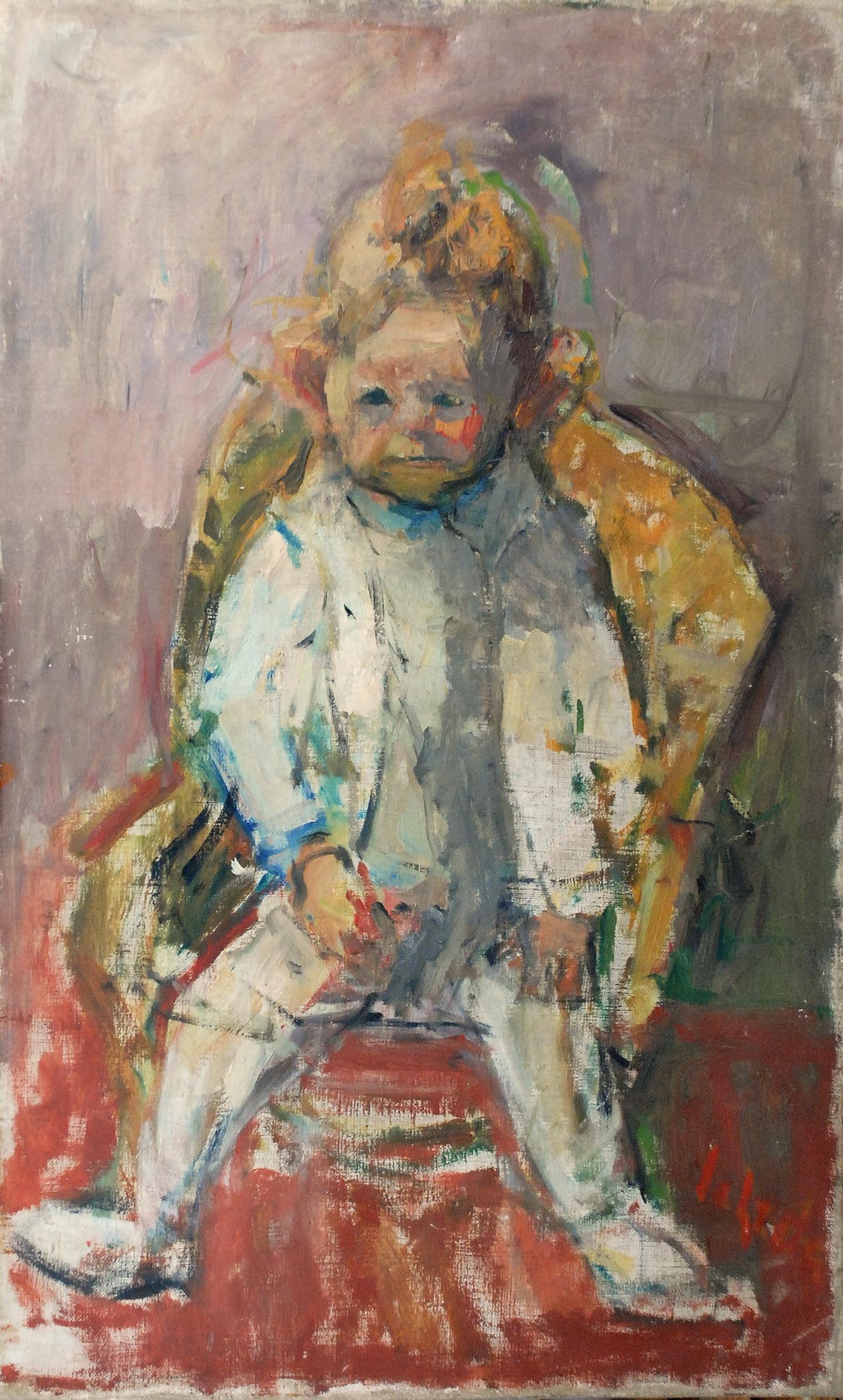 Chłopczyk w foteliku