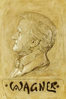 Plakieta z wizerunkiem Ryszarda Wagnera