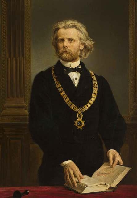 Portret prof. dra Karola Gilewskiego, 1872 (Portret Rektora Uniwersytetu Jagiellońskiego Gilewskiego)