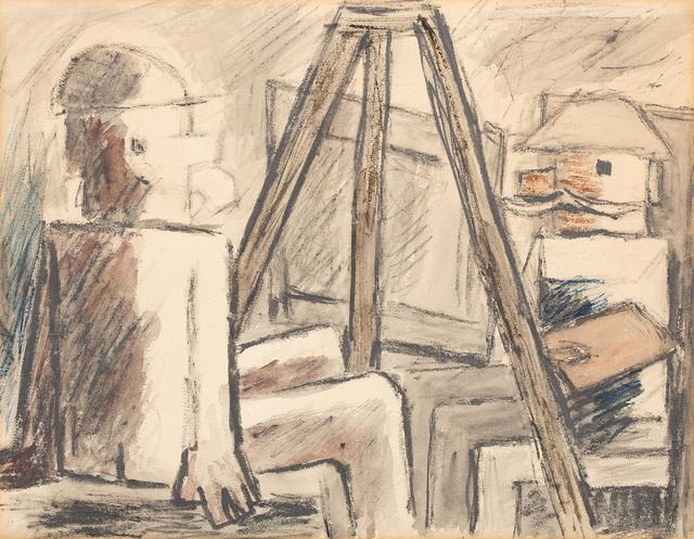 Malarz i model, 1931