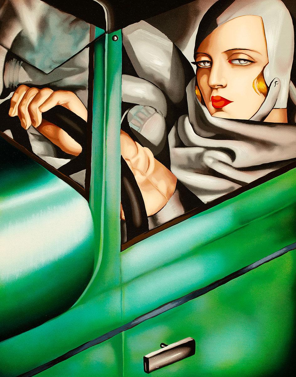 Autoportret w zielonym Bugatti, 1932/1994