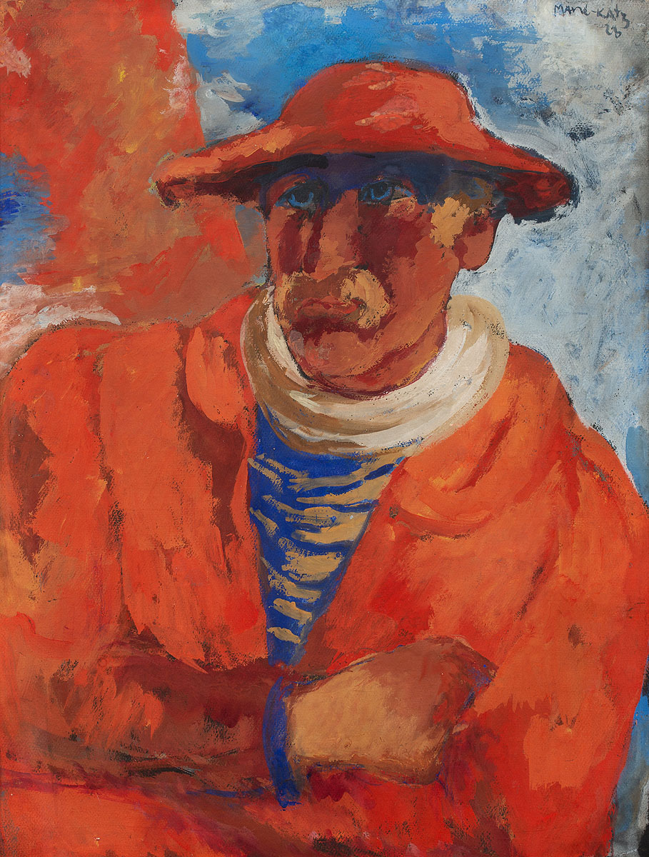 Mężczyzna w czerwonym kapeluszu, 1923