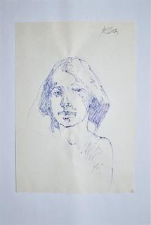 Szkic głowy kobiety