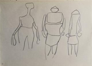 Szkic trzech postaci