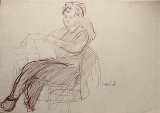 Postać siedzącej kobiety, 1953
