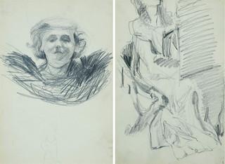 Studium głowy młodej kobiety – szkic, 1907