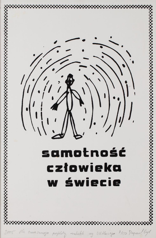 """""""Nic śmiesznego, projekty makatek według Witkacego"""", 2005"""