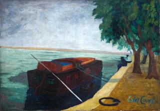 Rybacy i Barka Sekwanie,  ok. 1930 r.