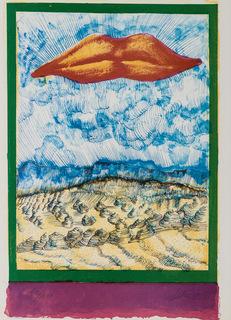 "Kompozycja z ustami - Ilustracja do poezji Eugenio Montale: ""CINQUANTE ANS DE POESIE"", 1972"